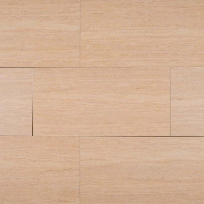 M S International Tile Travertine Romano Matte 12 X 24