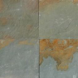 M S International - Natural Stone Slate/Quartize Aqua Rustic Gauged 16 X 16 Slate/Quartize
