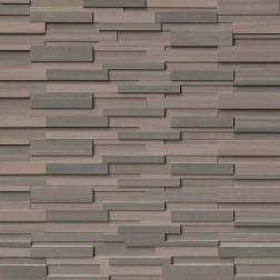 M S International - Natural Stone Ledgers Brown Wave 3d Panel Honed 6 X 24 Ledgers