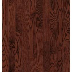 "Bruce Waltham Strip WHite Oak Cherry Solid Traditional Finish 2 1/4"""
