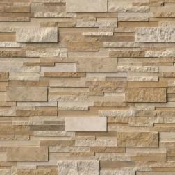 M S International - Natural Stone Ledgers Casa Blend 3d Honed Panel Honed 6 X 24 Ledgers