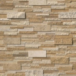 "M S International - Natural Stone Ledgers Casa Blend 3d Multi Finish "" L"" Pnl Misc. 6 X 24 Ledgers"