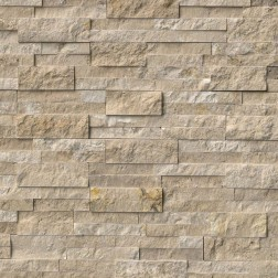 M S International - Natural Stone Ledgers Durango Cream Panel Split Face 6 X 24 Ledgers