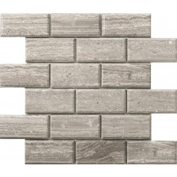 Emser NATURAL STONE Metro Gray 2x4 Bevel Mosaic On 12x12