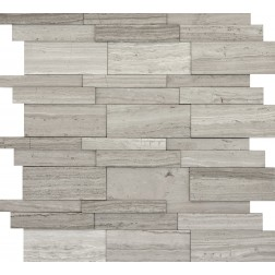 Emser NATURAL STONE Metro Gray 3dlinear Mosaic On 12x12