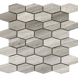 Emser NATURAL STONE Metro Gray Hexagon Wide Mosaic On 12x12
