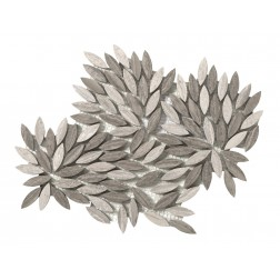 Emser NATURAL STONE Metro Gray Leaf Mosaic On 09x10