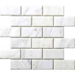 Emser NATURAL STONE Winter Frost 2x4 Bevel Mosaic On 12x12