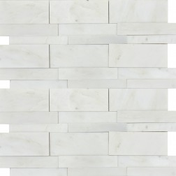 Emser NATURAL STONE Winter Frost 3d Linear Mosaic On 12x12