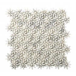 Emser NATURAL STONE Winter Frost Daisy Mosaic On 12x13