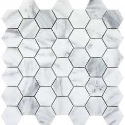 Emser NATURAL STONE Winter Frost Hexagon Large Mosaic On 12x12