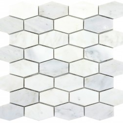 Emser NATURAL STONE Winter Frost Hexagon Wide Mosaic On 12x12
