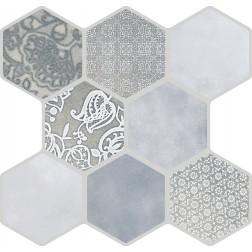 Emser Tile Virtue Gray 18x18 Hexagon