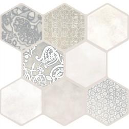 Emser Tile Virtue Ivory 18x18 Hexagon