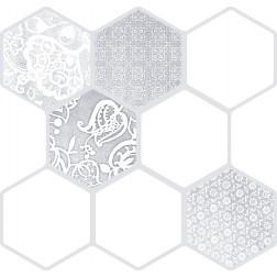 Emser Tile Virtue White 18x18 Hexagon