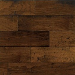 "Bruce - AMERICAN VINTAGE Engineered 5"" - Micro Edge / Square Ends - wAlnut - Mesa Brown"