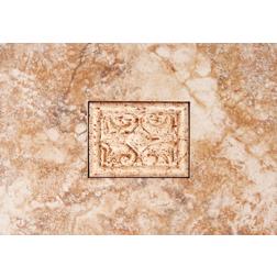 General Ceramic Tile - Petra Rojo Andrea Insert  8x12