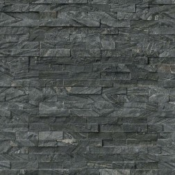 M S International - Natural Stone Ledgers Glacial Black Panel Split Face 6 X 24 Ledgers