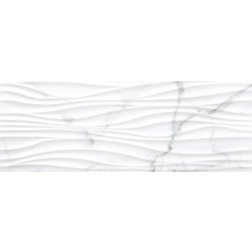 ITM - Tile 13x36 Olas Macael 390 Gris Shiny Wavy Wall Tile