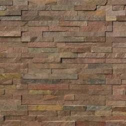 M S International - Natural Stone Ledgers Copper Panel Gauged 6 X 24 Ledgers