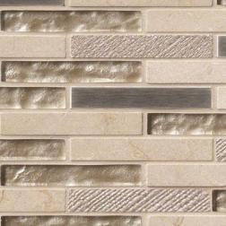 M S International - Mosaics Vienna Blend Brick Pattern Mosaics