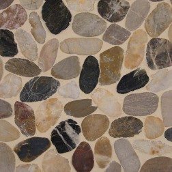 M S International - Natural Stone Pebles Mix River Pebbles Natural Pattern Pebles