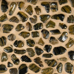 M S International - Natural Stone Pebles Polished Mixed Pebbles Polished 12 X 12 Pebles