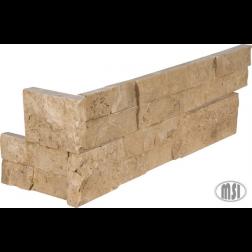 "M S International - Natural Stone Ledgers Cordoba Noche 3d ""L"" Corner Honed 6 X 24 Ledgers"