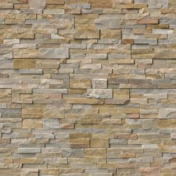 "M S International - Natural Stone Ledgers Nevada Gold Corner "" L"" Panel Split Face 6 X 18 Ledgers"
