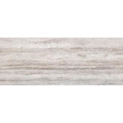 Porcemall Kronenhahn - Distance Travertino Silver Travertine Look Polished Rectified Porcelain Tile 19x48