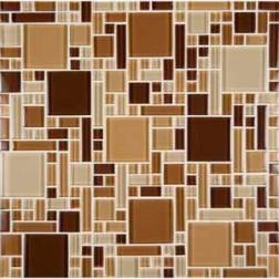 M S International - Mosaics Chestnut Blend Magic Pattern Mosaics