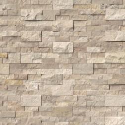 "M S International - Natural Stone Ledgers Roman Beige ""L"" Corner Split Face 6 X 18 Ledgers"