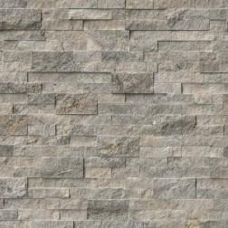 M S International - Natural Stone Ledgers Silver Travertine Panel Split Face 6 X 24 Ledgers