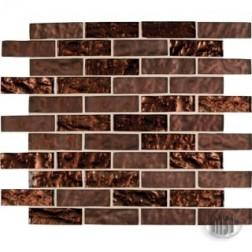 M S International - Mosaics Copper Leaf 1 X 3 Mosaics