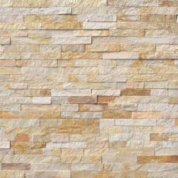 "M S International - Natural Stone Ledgers Sparkling Autumn Corner "" L"" Panel Split Face 6 X 18 Ledgers"