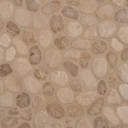 M S International - Natural Stone Pebles Travertine Blend Pebbles Tumbled Pattern Pebles