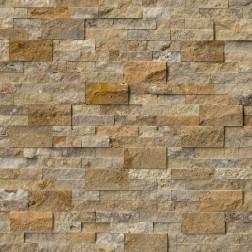 "M S International - Natural Stone Ledgers Tuscany Scabas Corner "" L"" Panel Split Face 6 X 18 Ledgers"
