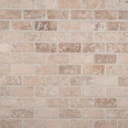 M S International - Natural Stone Travertine Tuscany Classic Brick Tumbled 1 X 2 Travertine