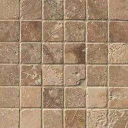 M S International - Natural Stone Travertine Tuscany Walnut Tumbled 2 X 2 Travertine