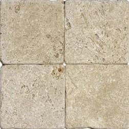 M S International - Natural Stone Travertine Tuscany Walnut Tumbled 6 X 6 Travertine