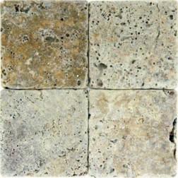 M S International - Natural Stone Travertine Tuscany Scabas Tumbled 6 X 6 Travertine