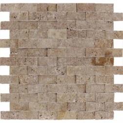 M S International - Natural Stone Travertine Tuscany Walnut Splitface Split Face 1 X 2 Travertine