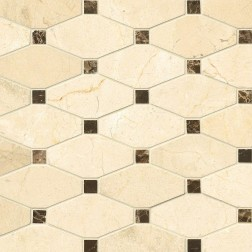 M S International - Natural Stone Marble Valencia Blend Elongated Oct Pol Polished Pattern Marble