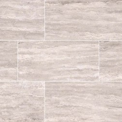 M S International - Tile Pietra White Polished 12 X 24