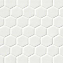 M S International - Tile Highland Park Whisper White Glossy Pattern Ceramic Subway