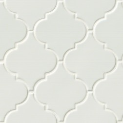 M S International - Tile Highland Park Whisper White Glossy Pattern Ceramic Subway