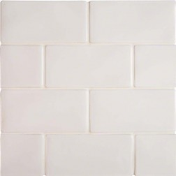 M S International - Tile Highland Park Whisper White Glossy 3 X 6 Ceramic Subway