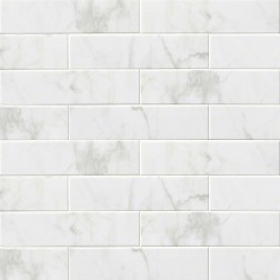 M S International - Tile Classique White Glossy 4 X 16 Ceramic Subway