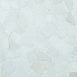 M S International - Natural Stone Pebles Flat White Pebbles Gauged 16 X 16 Pebles