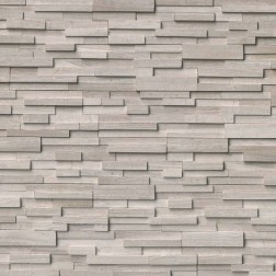 M S International - Natural Stone Ledgers White Oak 3d Honed Panel Honed 6 X 24 Ledgers